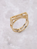 Negative Line Bar Ring Anarchy Street Gold