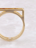 Negative Line Bar Ring Anarchy Street Gold - Details