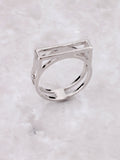 Negative Line Bar Ring Anarchy Street Silver