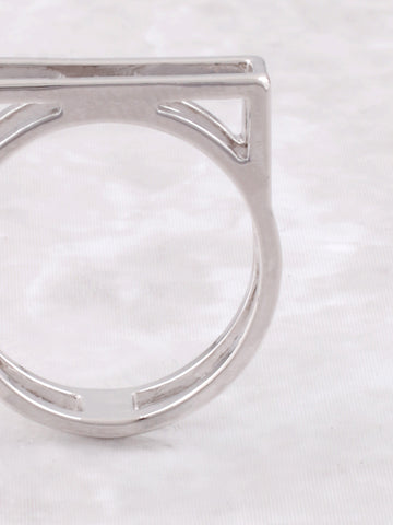Negative Line Bar Ring Anarchy Street Silver - Details