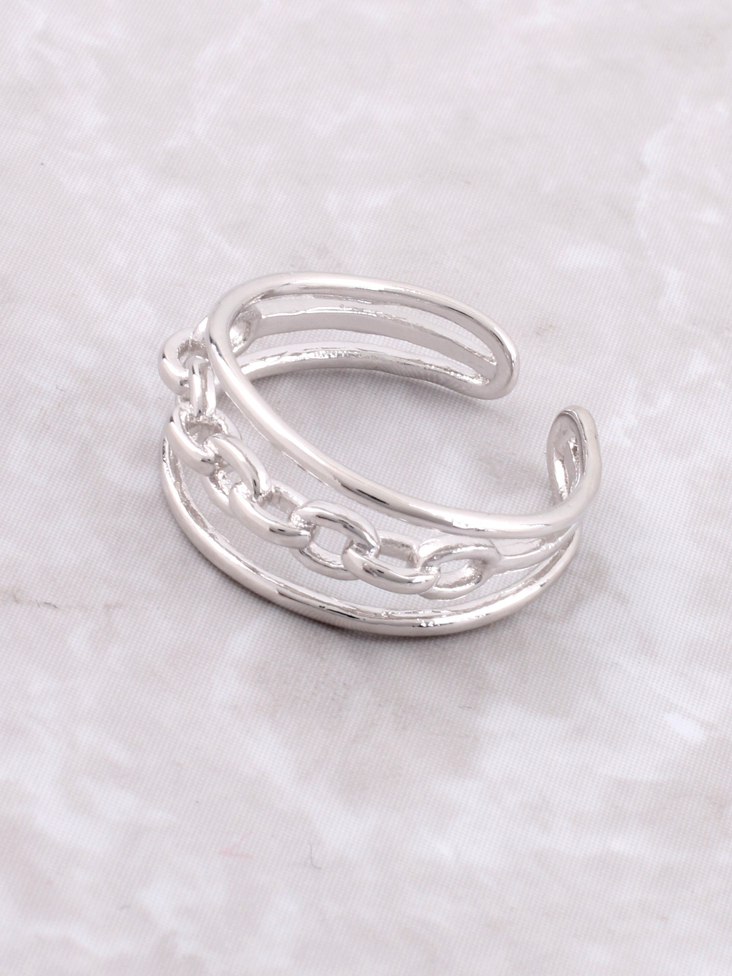 Chain Link Ring Anarchy Street Silver