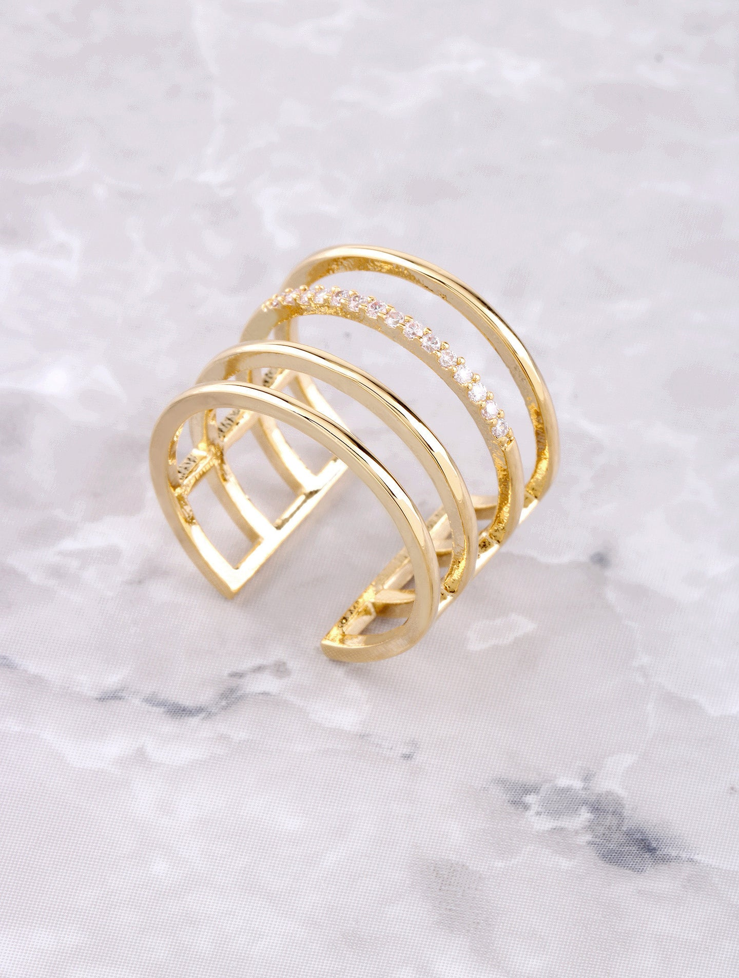 Caged Up Ring Anarchy Street Gold