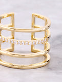 Caged Up Ring Anarchy Street Gold - Details