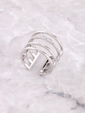 Caged Up Ring Anarchy Street Silver