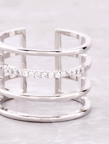 Caged Up Ring Anarchy Street Silver - Details