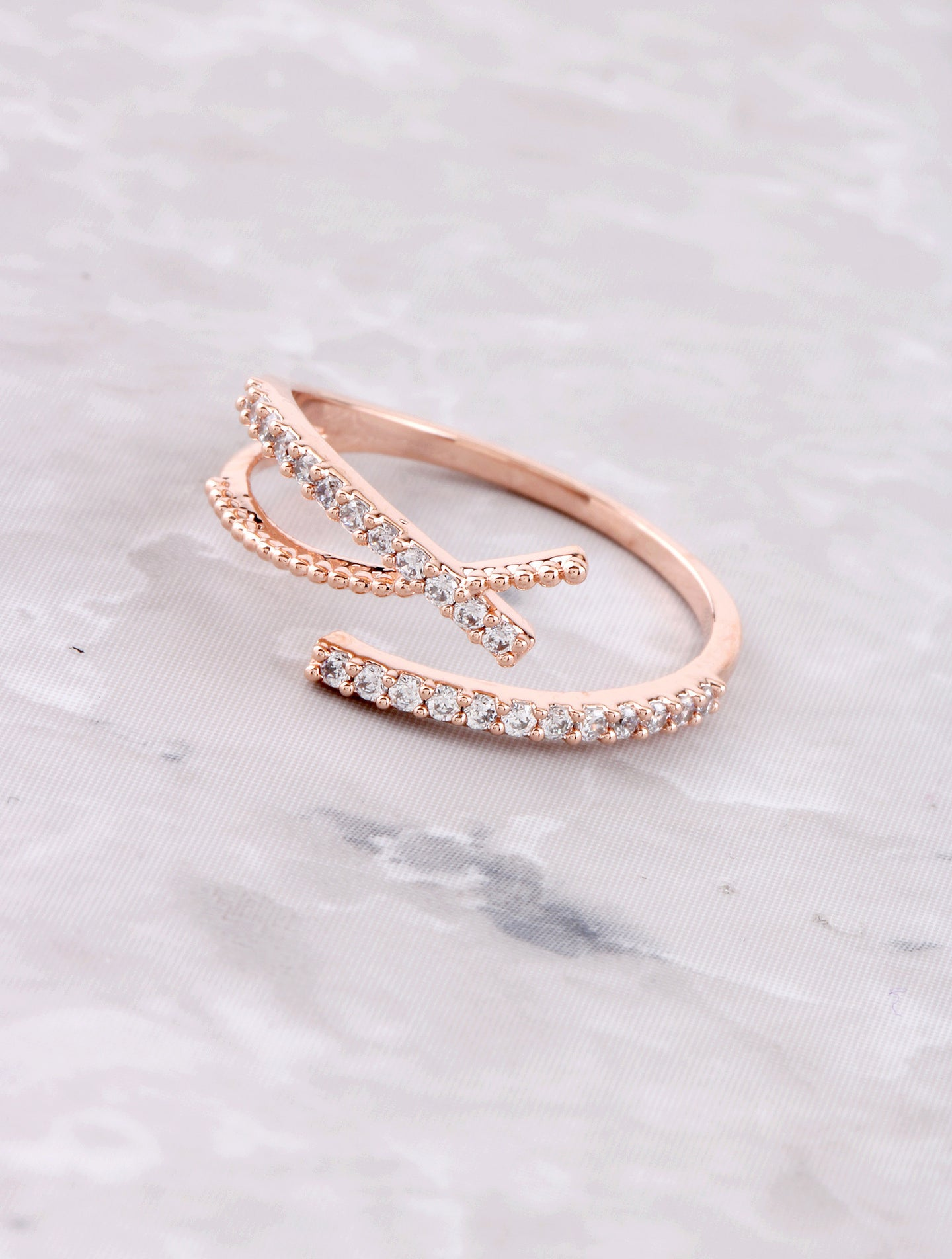 Crossed Out Ring Anarchy Street Rosegold