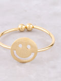 Happy Face Ring Anarchy Street Gold - Details
