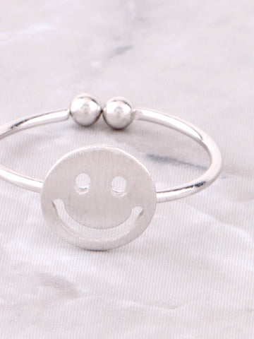 Happy Face Ring Anarchy Street Silver - Details
