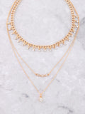 Sprinkle Layered Choker Anarchy Street Gold