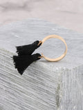Double Tassel Ring Anarchy Street Black
