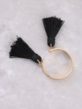 Double Tassel Ring Anarchy Street Black - Details