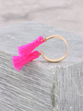 Double Tassel Ring Anarchy Street HOTPINK