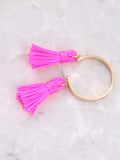 Double Tassel Ring Anarchy Street HOTPINK - Details