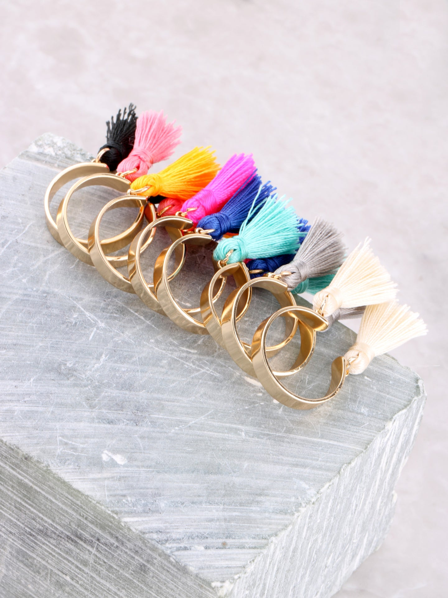 Double Tassel Ring