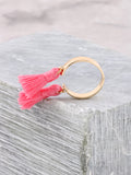 Double Tassel Ring Anarchy Street Pink