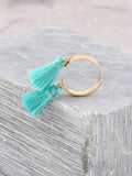Double Tassel Ring Anarchy Street Turquoise
