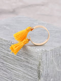 Double Tassel Ring Anarchy Street Yellow