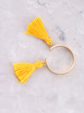 Double Tassel Ring Anarchy Street Yellow - Details