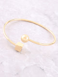 Geometric Bangle Bracelet Anarchy Street Gold