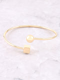 Geometric Bangle Bracelet Anarchy Street Gold - Details
