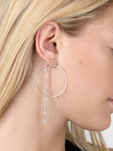 Triple Chain Loop Stud Earrings