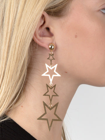 Cascading Stars Dangle Earrings