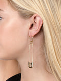 Loop Safety Pin Earrings