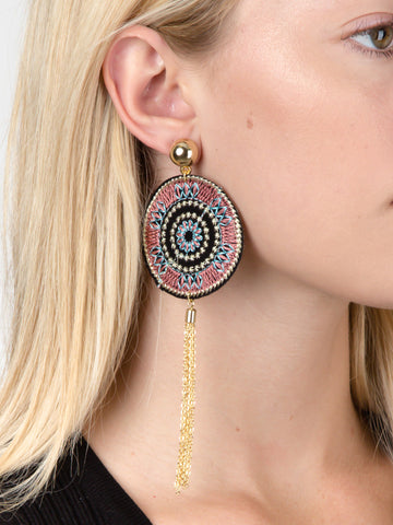 Patch Chain Earrings