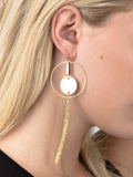 Chain Tassel Loop Earring