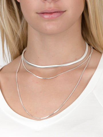 Snake Chain Layered Choker