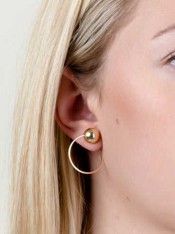 Clip On Sphere Earrings