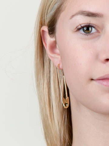 Safety Pin Drop Earring
