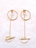 Circle Chain Drop Earring