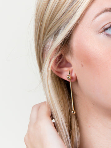 Line And Point Earrings