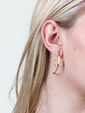 Curved Circle Earring