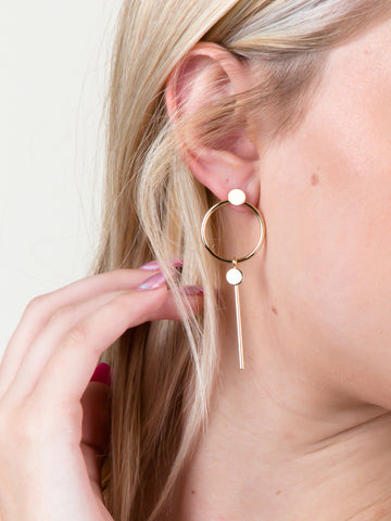 Infinite Bar Earring