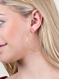 14K Gold Dipped Hoop Earring