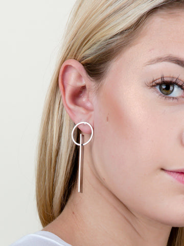 Flat Bar Loop Earring