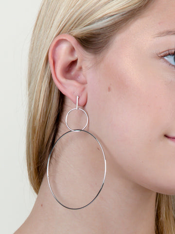 Double Loop Hoop Earring