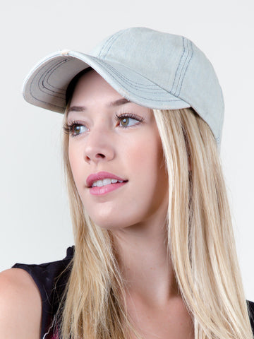 Modern Washed Denim Cap