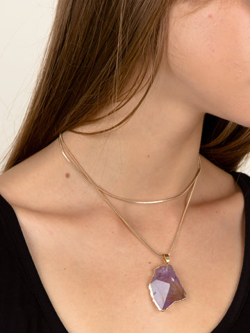 Gemstone Wrap Necklace