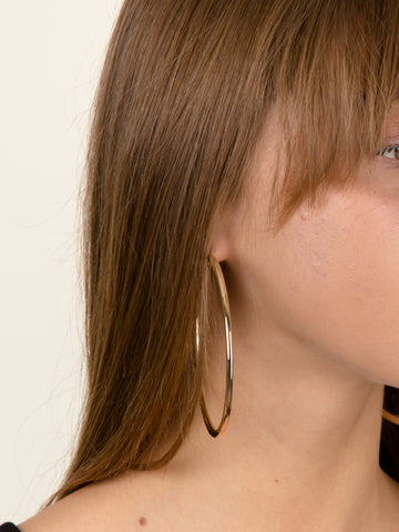 Shallow Hoop Earrings