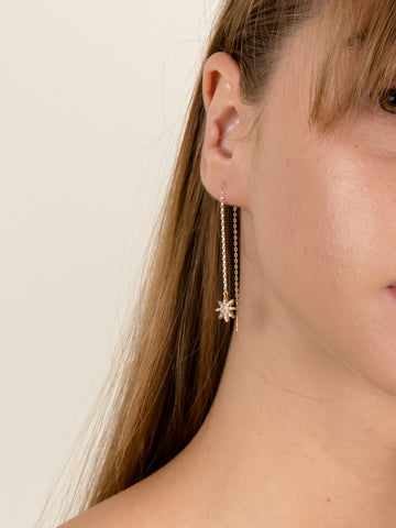 Starburst Dangle Threader Earrings