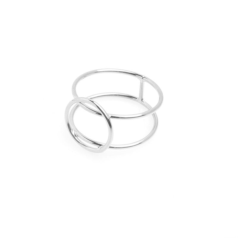 Closed Off Ring (Silver) - Anarchy Street