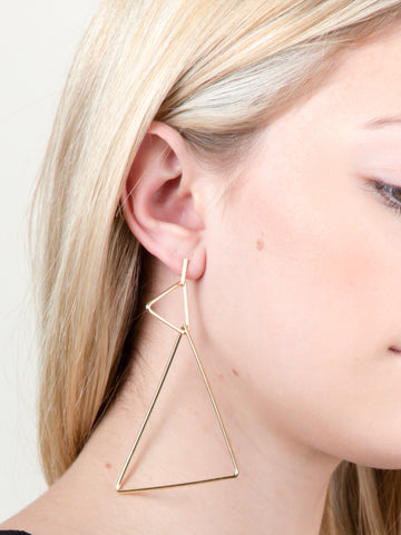 Triangle Hoop Earring