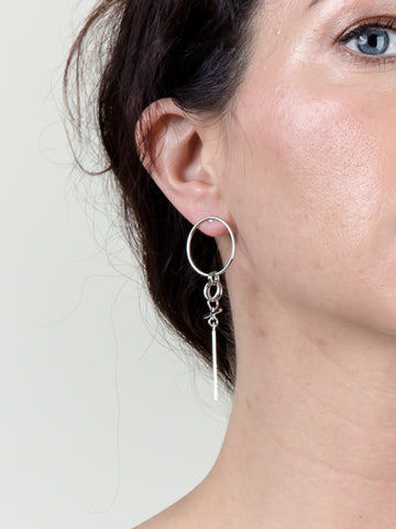 Double Loop Drop Earring