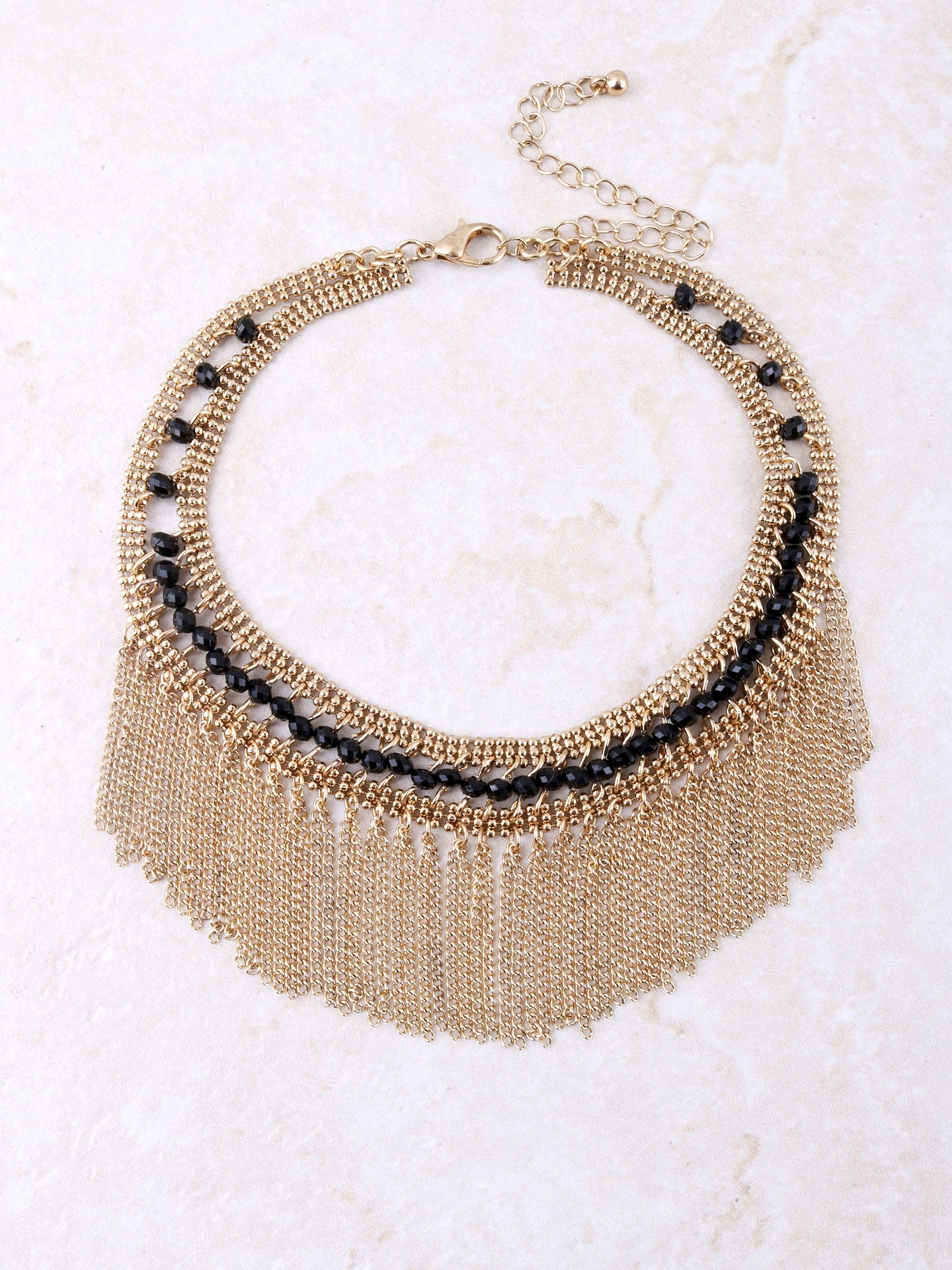 Beaded Chain Choker Anarchy Street Gold