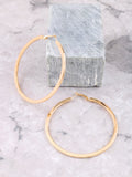 Shallow Hoops Earrings Anarchy Street Gold