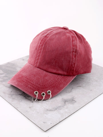Pierced Cap Anarchy Street Burgundy