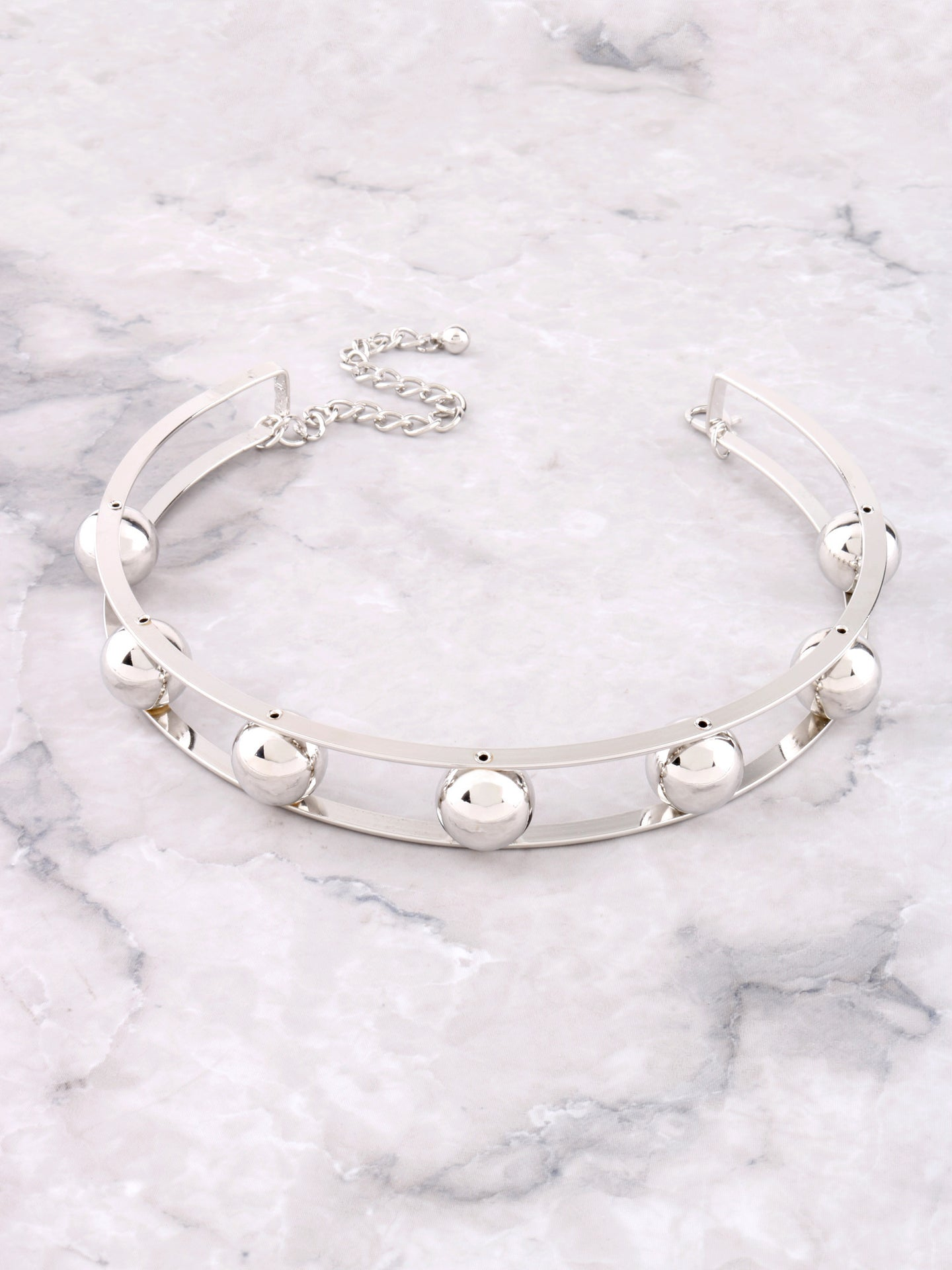 Wrecking Ball Choker Anarchy Street Silver